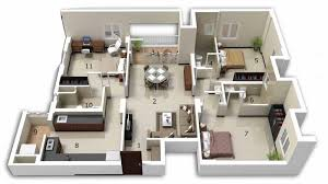 Modern home design layout Ultra Modern Interior Design Ideas 25 Three Bedroom Houseapartment Floor Plans
