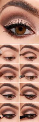 16 easy step by step eyeshadow tutorials for beginners easy eyeshadow makeup tutorials for beginners brown cut crease with eyeliner
