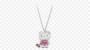 locket hello kitty necklace pendant chain swarovski jewelry cat necklace women kiti png 600 500 free transpa locket png