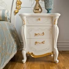 Italian Carved Gold Leaf Bedside Cabinet