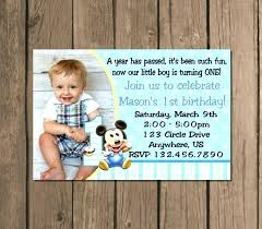 baby mickey 1st birthday invitation template elegant invitations boy templates free for printable first