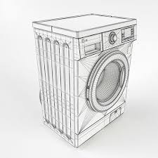 washing machine drawing. lg washing machine 3d model max fbx 13 drawing