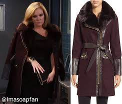 ava s belted wine coat with faux leather and faux fur trim see more via spiga clothing