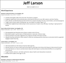 Sample Instructor Resume Gallery Of Dance Instructor Resume Dance Resume Example Search 17