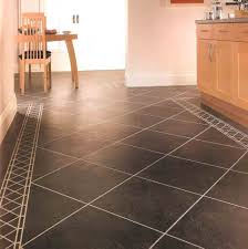 image of laminate flooring over tile dining