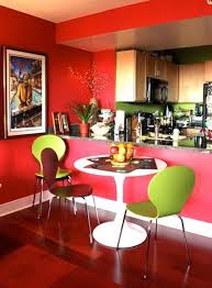 23 bright and colorful dining room design ideas simple dining room with red wall color
