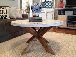 All that is compulsory in four crates and wheels set if needed. Diy Coffee Table Easy X Base Table With Round Top