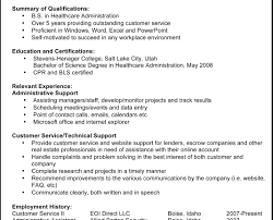 Work Resume Layout Resume For Administrator