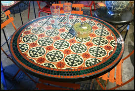 tile outdoor table. Ceramic Top Patio Table Mosaic Bistro And Chair Set How To Make A White Round Outdoor Tile