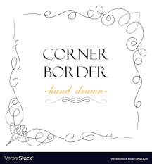 Divider Graphic Design Hand Drawn Corner Flourish Text Graphic Design