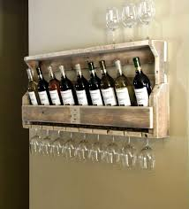 fantastic wine rack glass holder simple but cool wall mounted homemade wine rack made from reclaimed wood pallet with glass holder jpg