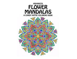 Small Picture Advanced Flower Mandalas Adult Coloring Book printable