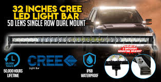 Light Bar 5d 32 Inch Cree Led Light Bar 5d Lens Single Row Dual Mount