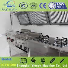 Mobile Kitchen Equipment Resistantyieson 3 Selling Windows Fiber Glass Fast Food Truck