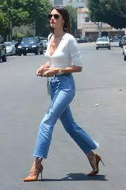 Alessandra Ambrosio REDONE Levis vintage jeans Celebrity Strut.