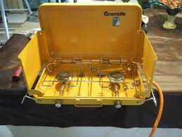 stove camping 2 burner gasmate with 4kg gas bottle as new