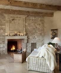 cool brick wall fireplace