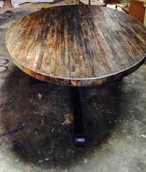 reclaimed round dining table best gallery of tables furniture reclaimed round dining table onassisstylefo