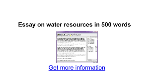 essay on water resources in words google docs