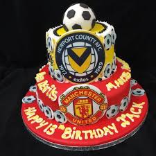 2 Tier Football Birthday Cake Celticcakescom