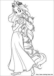 Small Picture Coloring Pages Disney Rapunzel Coloring Pages