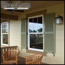 Decorative Outdoor House Shutters Fixed Louvered Exterior Shutters - Shutters window exterior