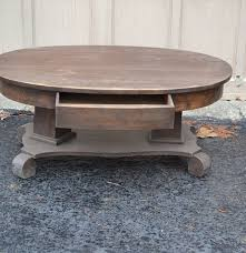 Empire Coffee Table Antique Oval Empire Coffee Table Ebth