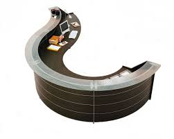 office furniture reception desks large receptionist desk. reception desks office furniture luna wenge desk in circular design large receptionist f
