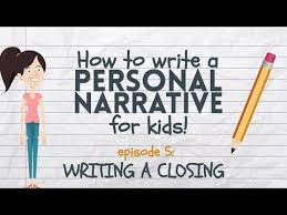 Chart Narrative Examples Writing A Personal Narrative Writing A Closing Or