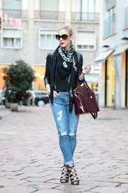 cropped leather jacket ysl leopard print scarf brahmin black cherry duxbury bag adriano goldschmied distressed stilt cigarette jean