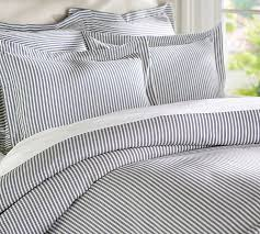 thatcher ticking stripe duvet cover sham navy blue for with the calista