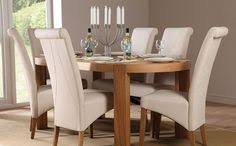 clifton oval oak dining table and 6 chairs set richmond cream for only at furniture choice