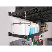 2 ft x 8 ft wall mounted steel shelf