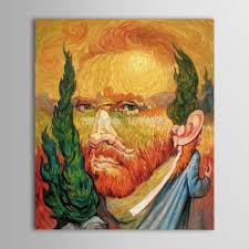 Hand Painted High Q. World Top Famous Paintings Vincent Van Gogh  Self-portraits Oil Painting On Canvas Wall Art For Living Room