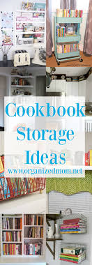 Image Cabinet Home Decor Storing Cookbooks For Organization If You Dont Want To Get The Organized Mom 10 New Ideas For Storing Cookbooks The Organized Mom