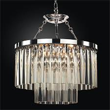 contemporary pendant chandelier with optic crystal wind chime 613dm19sp