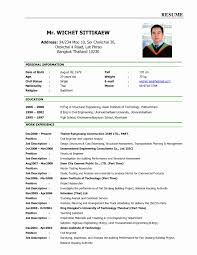 Sample Resume Format 100 Fresh Photograph Of Resume format for Applying Job Abroad 58
