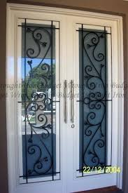 wrought iron glass doors unique glass inserts wrought iron stained glass door inserts