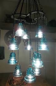 fabulous kitchen lighting chandelier glass. Horse Shoe-Antique Glass Insulator Chandelier/Light Fixture-An Original-12 Light Fabulous Kitchen Lighting Chandelier I