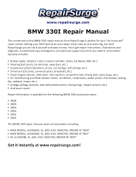 bmw i repair manual  repairsurge com bmw 330i repair manual the convenient online bmw 330i repair manual