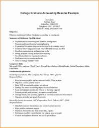 Recent Graduate Resume Examples General Objective For College