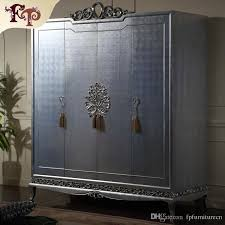 italian classic furniture manufacturer antique bedroom furniture luxury hand carved wardrobe solid wood frame with silver leaf gilding luxury wardrobe
