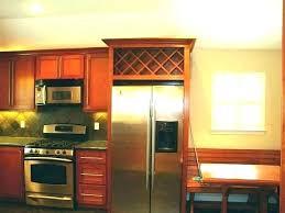 wine rack cabinet above fridge. Wine Rack Above Fridge Over The Refrigerator Storage Kitchen Decor Next To Cabinet
