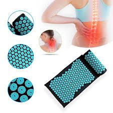 <b>66 x 42cm</b> Massager Cushion Massage Mat <b>Acupressure</b> Back ...
