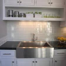 kitchen backsplash glass subway tile. Gray Subway Tile View Full Size. Kitchen With White Cabinets And Glass  Backsplash Subway Tile S