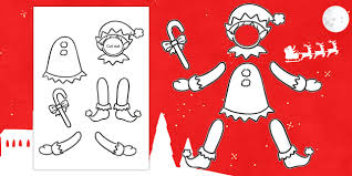 Cut Out Character Template Make Yourself An Elf Colour And Cut Out Template Elf