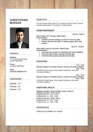 Cv Templates Word 2007 Word Resume With Green Details Free Professional Resume