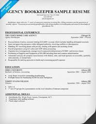 Gallery Of Bookkeeper Resume Examples