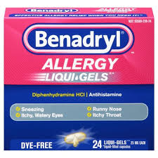 Benadryl Liqui-Gels Antihistamine Allergy Medicine - Dye Free - 24ct ...
