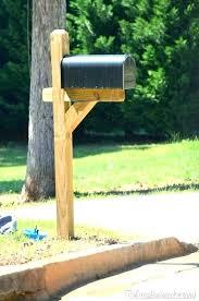 mailbox post ideas. 3 Mailbox Post Wooden Posts Wood Option Black White Decorative Ideas